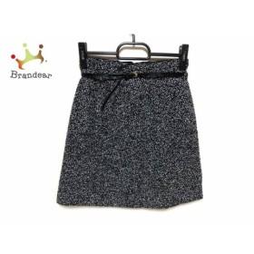 アプワイザーリッシェ Apuweiser-riche スカート サイズ0 XS レディース 美品 黒×白 ベルト付き     スペシャル特価 20190801