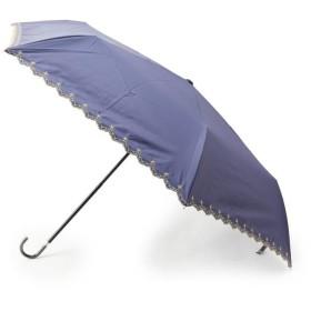 SHOO・LA・RUE/DRESKIP(シューラルー/ドレスキップ) 遮光遮熱星スカラップ晴雨兼用ミニ折り畳み傘
