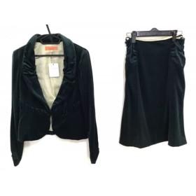 【中古】 スーナウーナ SunaUna スカートスーツ サイズ38 M レディース グリーン