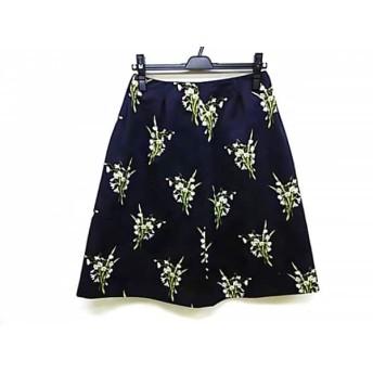 【中古】 マッキントッシュフィロソフィー スカート サイズ38 L レディース 美品 花柄