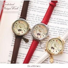 アンティーク調ワンダーランドウォッチ腕時計0731【5,400円以上送料&代引き手数料無料】