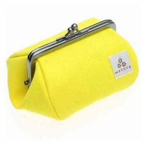 帆布がま口 化粧ポーチ 3.5寸Sサイズ(レモン)