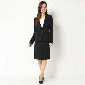 【ピュアラスト】スタイリッシュビジネス3点スーツ(レディース) ブラックストライプ