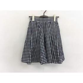 【中古】 マッキントッシュフィロソフィー スカート サイズ34 M レディース 白 ネイビー 黒 チェック柄