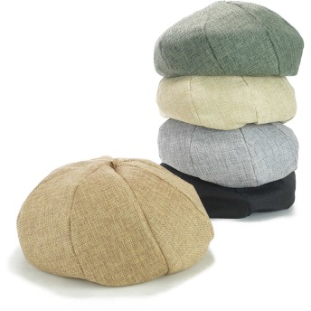 ベレー帽 - Smart Hat Factry <春夏新作>ポリリネン8パネルベレー レディース 帽子