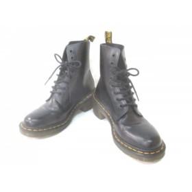 【中古】 ドクターマーチン Dr. Martens ブーツ レディース 美品 黒 レザー