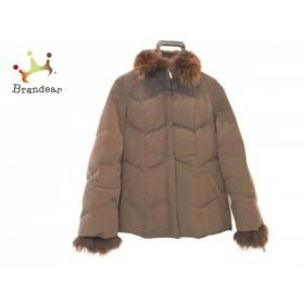 アイシービー ICB ダウンジャケット サイズ9 M レディース ダークブラウン ファー/冬物 新着 20190602