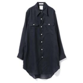 MADISONBLUE / HAMPTON LINEN LONG SHIRT● レディース カジュアルシャツ NAVY 00