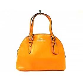 【中古】 コーチ COACH ハンドバッグ - - オレンジ レザー