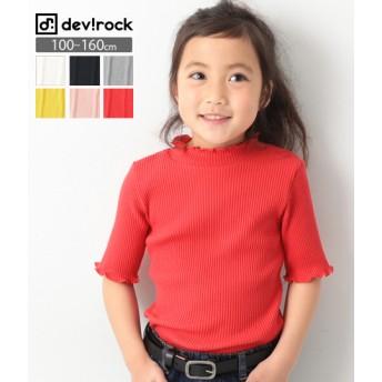 devirock デビロック リブハーフスリーブ Tシャツ