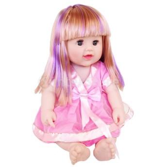 50センチメートル素敵な現実的な女の赤ちゃん人形ビニール新生児幼児ピンクのドレスギフト