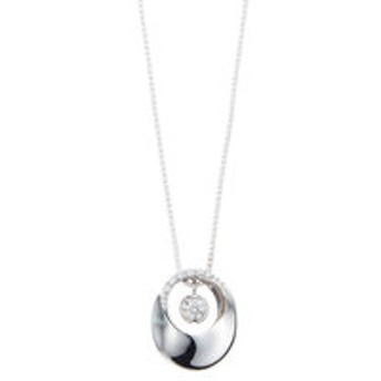 【Milluflora:アクセサリー】プラチナ ダイヤモンド メビウスモチーフ ネックレス