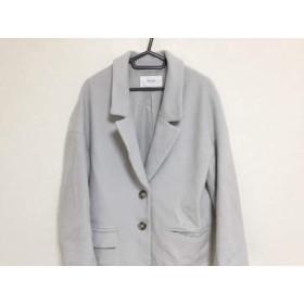 【中古】 ノーリーズ NOLLEY'S コート サイズ38 M レディース ライトグレー 冬物