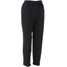ケアファッション 裾ファスナーパンツ 婦人用 ブラック Lサイズ 股下60cm 39304−02 1着 (お取寄せ品)