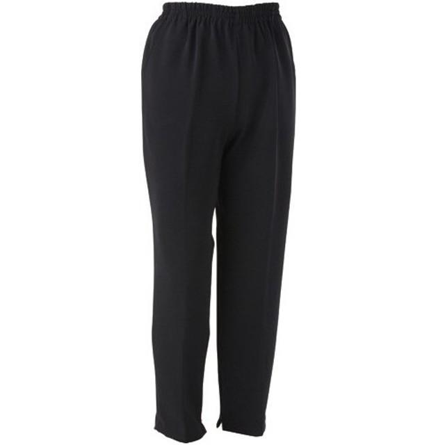 2e354a1f747a47 ケアファッション 裾ファスナーパンツ 婦人用 ブラック Lサイズ 股下60cm 39304−02 1