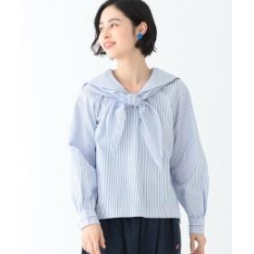 BEAMS BOY / セーラースカーフ 7分袖 シャツ レディース カジュアルシャツ BLUE ONE SIZE