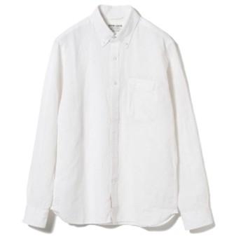 BEAMS LIGHTS / COOLMAX(R) リネンコットン ボタンダウンシャツ メンズ ドレスシャツ WHITE M