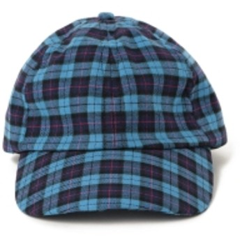 ALDERNEY × BEAMS / 別注 6パネル キャップ メンズ キャップ BLUECHECK ONE SIZE