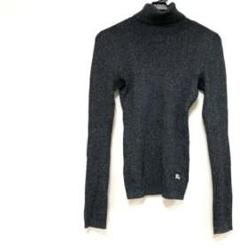 【中古】 バーバリーブルーレーベル 長袖セーター サイズ38 M レディース 黒 シルバー グレー