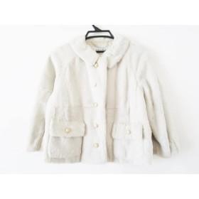 【中古】 アドーア ADORE コート サイズ38 M レディース ライトグレー ファー/body dressing/冬物