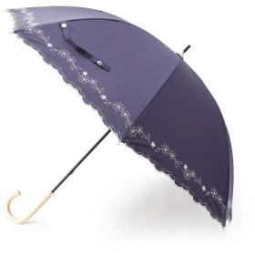 SHOO・LA・RUE/DRESKIP(シューラルー/ドレスキップ) フラワ-刺しゅうスカラップ晴雨兼用パラソル(長傘)