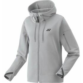ヨネックス(YONEX) レディース テニス アウター スウェットパーカー グレー杢 39012 275 【テニスウェア バドミントン 長袖 ジャケット