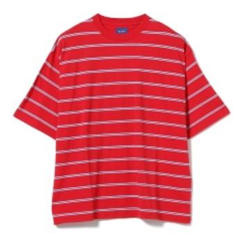 BEAMS / ビッグ ボーダー Tシャツ メンズ Tシャツ RED L