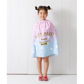 【水泳、プール。通園。通学。子供用】60cm丈ラップタオル(女の子) タオル