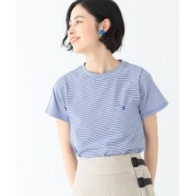 BEAMS BOY / ミジンコ ボーダー ポケット Tシャツ 19 レディース Tシャツ ROYAL×WHITE ONE SIZE
