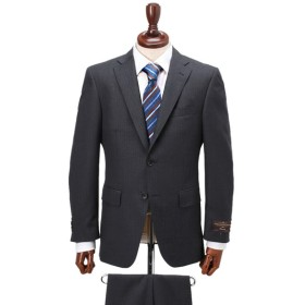 【CANONICO】カノニコ生地レギュラースーツ(メンズ) チャコールグレー(ストライプ柄)