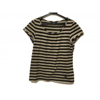 【中古】 バーバリーロンドン 半袖Tシャツ サイズ2 M レディース ベージュブラウン 黒 ボーダー