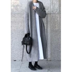 2018 カーディガン 通勤 秋   袖のルーズ感がかわいい コーディガン   ゆったり ファッション ボックスシルエット ロン