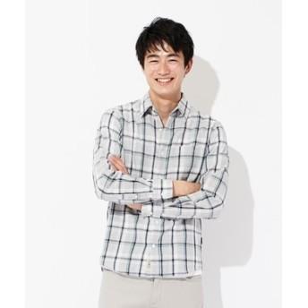 BACK NUMBER 【WEB限定価格】日本製 新潟スペック染めレギュラーシャツ メンズ グレー*グリーン