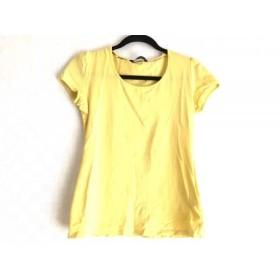 【中古】 バーバリーロンドン Burberry LONDON 半袖Tシャツ サイズ1 S レディース イエロー