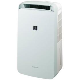SHARP CM-J100 アイスホワイト コンパクトクール [コンプレッサー式 冷風・衣類乾燥除湿機(木造11畳/コンクリ23畳まで)]