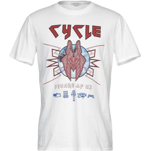 《セール開催中》CYCLE メンズ T シャツ ホワイト L コットン 100%
