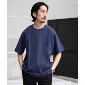 JOURNAL STANDARD 【EVALET】ストレッチウォッシャブルTee ネイビー A S