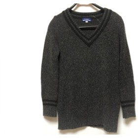 【中古】 バーバリーブルーレーベル 長袖セーター サイズ38 M レディース ダークグレー 黒