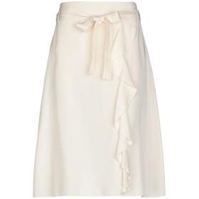 《9/20まで! 限定セール開催中》GIGUE レディース 7分丈スカート アイボリー 36 指定外繊維(テンセル) 100%
