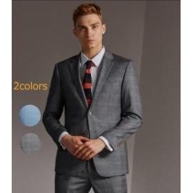 2COLOR 2ツボタンスーツ スリムモデルスーツ アウトレットスーツスーツ ビジネススーツ メンズスーツ スーツ 春夏メンズス