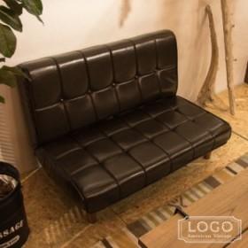フロアソファ LOGO ロゴ 2WAY リクライニング ソファ 座椅子 ローチェア 二人用 2P チェア ソフトレザー ソファー アメリカン(代引不可)