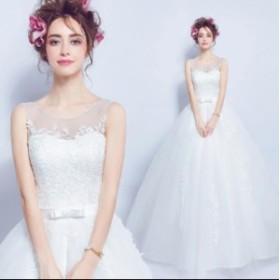 結婚式 二次会 素敵♪ プリンセスライン パーティードレス  ワンピース  花嫁♪ ブライダル 大きいサイズ ウェディングドレス