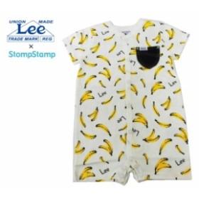 【送料無料】Lee×StompStamp ベビー服 バナナ総柄ロンパース 半袖