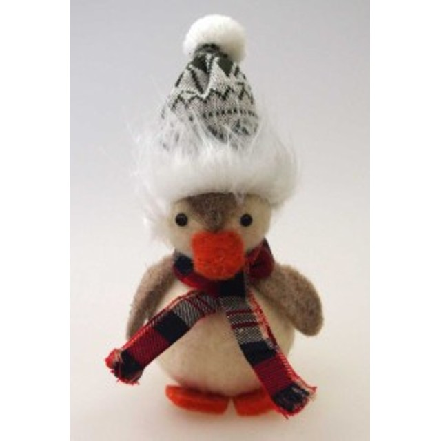 ウールクリスマスペンギン【クリスマス雑貨/クリスマス置物】