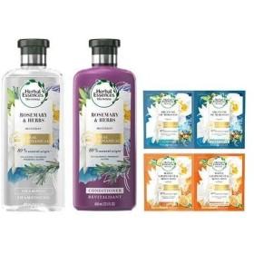 ハーバルエッセンス ビオリニュー ローズマリー&ハーブ ポンプペア+2日分お試しセット ( 1セット )/ ハーバルエッセンス(Herbal Essences)