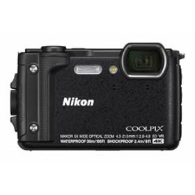 防水コンパクトデジタルカメラ COOLPIX(クールピクス)W300 ブラック
