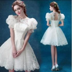 素敵♪ プリンセスライン♪ワンピース 花嫁♪ パーティードレス  ブライダル  大きいサイズ ウェディングドレス  結婚式 二次会