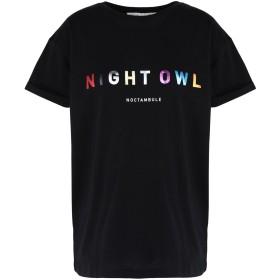 《期間限定セール開催中!》TRE CCILE レディース T シャツ ブラック S コットン 100% NIGHT OWL OVERSIZED T-SHIRT