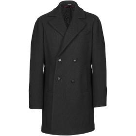《期間限定セール開催中!》OFFICINA 36 メンズ コート ブラック 48 アクリル 44% / バージンウール 43% / ポリエステル 5% / 指定外繊維 5% / レーヨン 3%