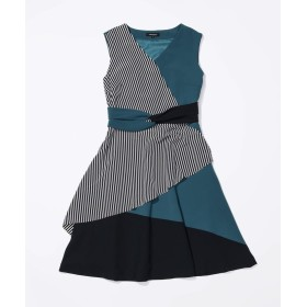 【28%OFF】 ラブレス WOMEN カラーブロックドレス レディース カーキ1 36 【LOVELESS】 【タイムセール開催中】